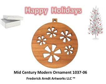 1037-6 Mid Century Modern Christmas Ornament