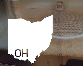 Ohio Car Decal, State Decal, Ohio Decal, Laptop Decal, Laptop Sticker, Car Sticker, Car Decal, Vinyl Decal, OH, Window Decal, Any State
