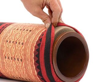 "6"" Large Lanna Roller Massage Foam Roller with Naga Cover"