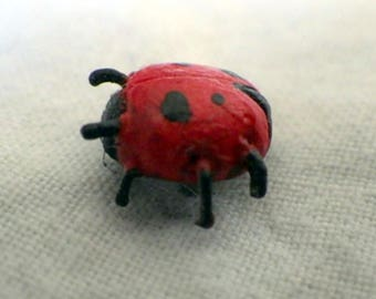 Red Clay Lady Bug Pin