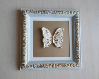 Ceramic artwork, framed ceramic, ceramic wall hanging, framed sculpture, framed ceramics, ceramic wall art, ceramic wall decor, frames small