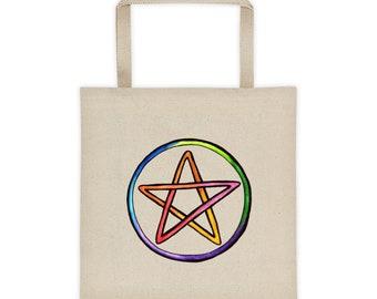 Rainbow Pentacle Tote bag