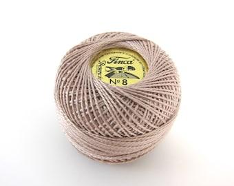 Taupe Finca Perle Cotton Thread