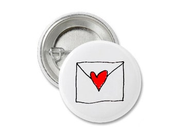 Love Letters Pin Badge.
