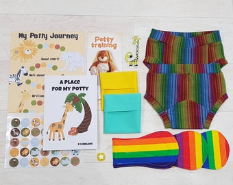 Washable Potty Training pants, 2 pairs training pants, toilet training, add on kit, trial pack, happy pants, 2-3y, 3-4y