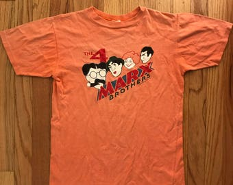 70's Vintage Marx Brothers T shirt Mens Medium
