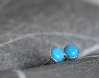 Sterling Silver Turquoise Howlite post earrings - Made to order