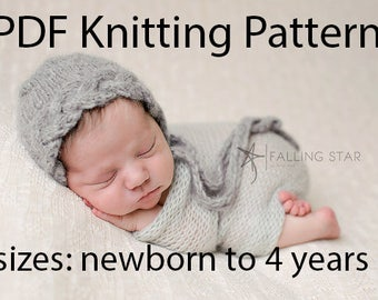 DOWNLOADABLE PDF PATTERN, baby bonnet knitting pattern, bonnet pattern, newborn bonnet, baby bonnet, cable bonnet, toddler bonnet tutorial