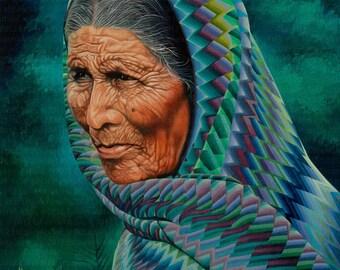 Dona Lupita // Giclee on Canvas