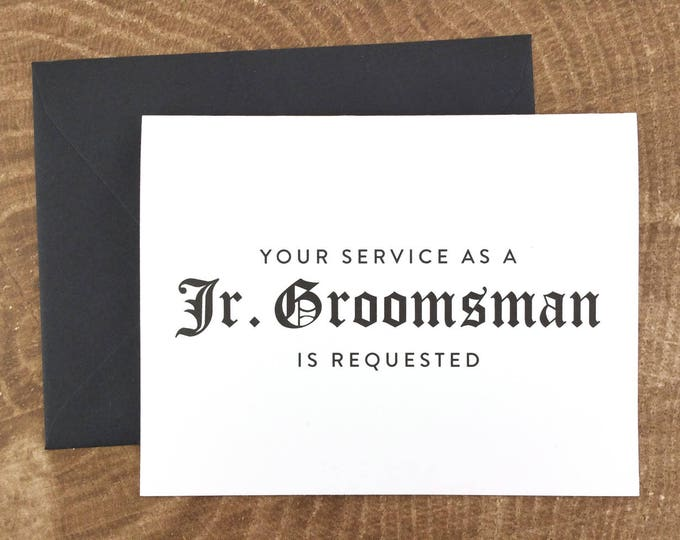 Your Service as a Junior Groomsman is Requested Card (FPS0011)