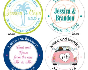 360 - 1 inch Custom Glossy Waterproof Wedding Stickers Labels - hundreds of designs to choose from - change designs to any color or wording