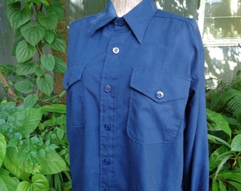 Vintage 60s Creighton Made in USA Coast Guard Uniform Mens shirt size 16-32 by JeansVintageCloset