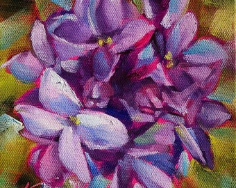 lilac art | lilac painting | floral art | floral painting | lilacs | home decor | kitchen decor | floral decor | purple flower painting