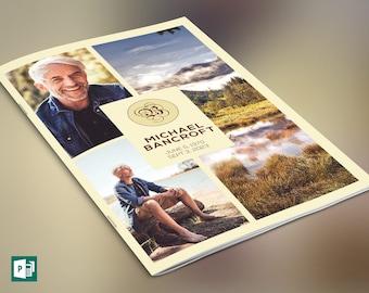 Nature Funeral Program Publisher Template V2