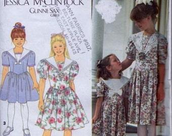 Simplicity 8255, Size 7-8-10-12, Girls' Dress Pattern, UNCUT,  Easter Dress, Holiday, Jessica McClintock Gunne Sax Girls, Vintage