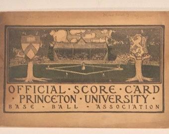 Antique 1902 Princeton University versus Georgetown Baseball Program - Early Baseball Memorabilia