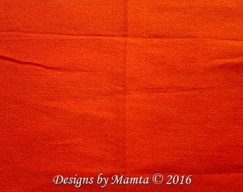 Neon Orange Dupioni Art Silk Fabric, Tangerine Silk Fabric, Indian Silk Fabric, Orange Art Dupion Silk, Silk India Fabric, Neon Dupioni Silk