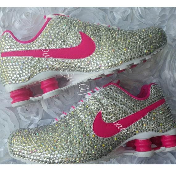 Custom Crystal Swarovski Rhinestone Nike Shox Shoes