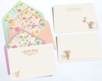 Personal Stationery |Three Little Mice