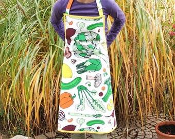 Apron for children, kitchen apron, apron tablier enfant