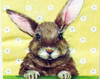 napkin for decoupage decoupage paper napkins Easter Bunny Rabbit