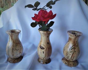 Wood Vases for Fresh Flowers - Hand Turned