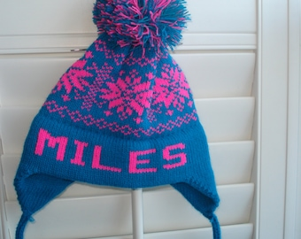 Personalized knit hat - Miles