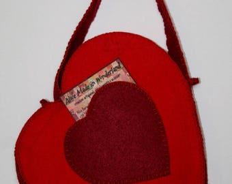 KORO, hand-sewn felt bag.