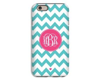 Name Monogram Phone Cover for iPhone 8/8 Plus case, chevron iPhone X case, iPhone 7/7 Plus case, iPhone 6s/6s Plus/6/6 Plus case