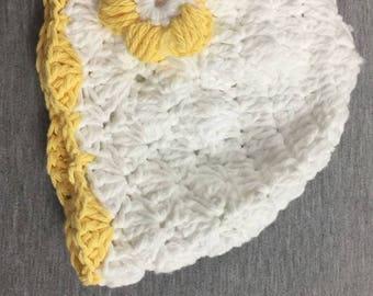Yellow Flower Girl Hat