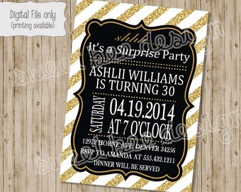 Adult Surprise Birthday Invitation, 30th Surprise Birthday Invitation, 40th Surprise Birthday Invitation, Surprise Birthday Party