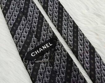 Super Rare Vintage High End Luxury Designer Brand Chanel Paris Silk Neckties Made In Italy