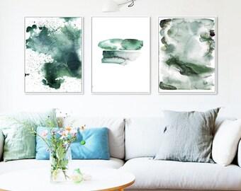 Watercolor art Prints,Prints set of 3,Watercolor Wall Art Set,Watercolor Wall Art Prints,Abstract Watercolor Wall Art, Printable Art