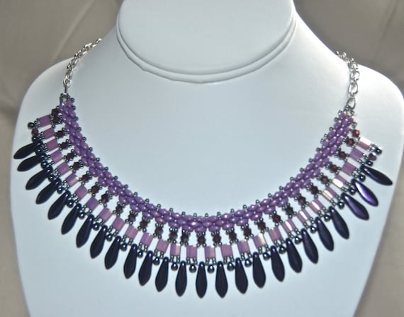 "19"" Purple Dagger Necklace"