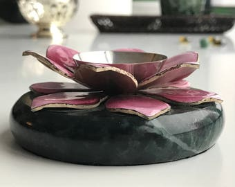 Sacred Lotus Handcrafted Decorative Piece - Silver - Housewarming Gift - Wedding Gift - Home Decor