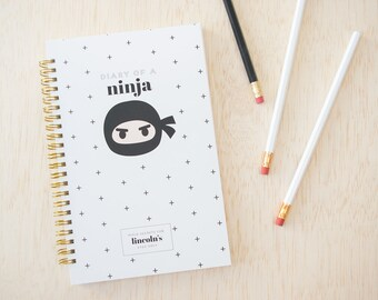 Ninja Notebook for Kids. Kid Notebook. Boy Notebook. Ninja Notebook. Ninja Journal. Personalized Notebook. Back to School. Gifts for Kids.