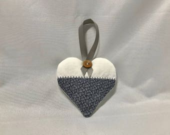Hanging Heart Lavender Sachet Bag embroidered