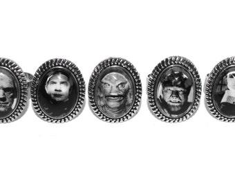Classic Horror Small Rings (Pair of 2)