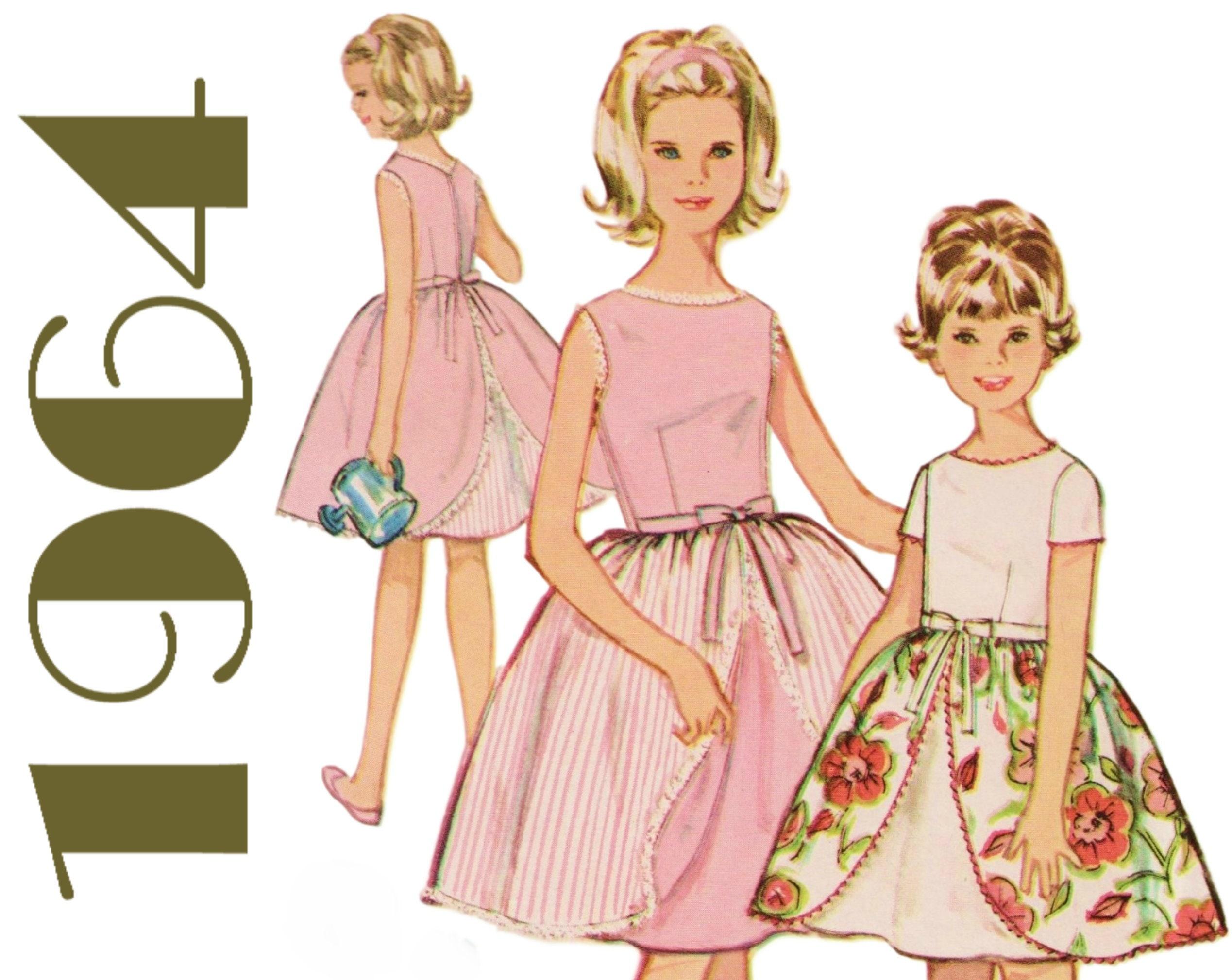 Chicas vestido Vintage sobrefalda para atar las niñas vestido de ...