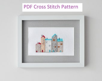 Raw Houses PDF Cross Stitch Pattern for Instant Download