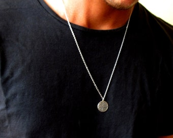 Mens jewelry etsy mens coin necklace aloadofball Gallery