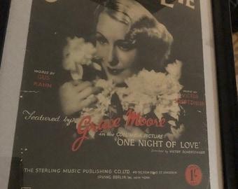 Vintage Framed Sheet Music