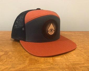 Grey/Orange/Black Trucker Snapback ODDS Hat