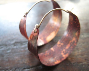 Medium Copper Hoops