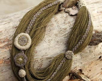 Linen necklace LINENLIN#002