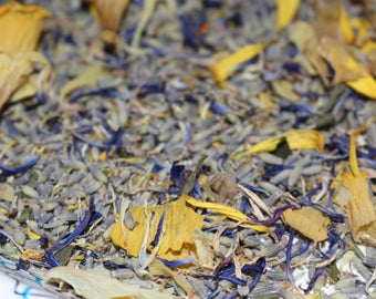 Organic Lavender Buds - dried Daffodils-Dried mums-1 cup bag-Great as wedding favors