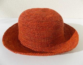 Hat, woman, man, unisex, hat straw, raffia Hat crochet hat, Sun/straw hat/beach hat/strohhut mainchapeau quite