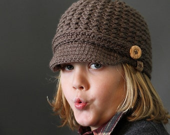 HANDMADE CROCHET NEWSBOY Hat Brookside Newsboy Cap