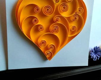 Heart Quilled Greeting Card / Handmade Card