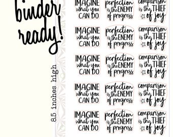 Creative Confidence Planner Stickers | Script Stickers | Typography Stickers (#285)